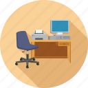desk, office, work, workstation icon