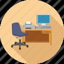 desk, office, work, workstation icon