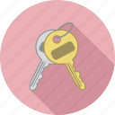 house keys, key chain, keys, lock box keys icon