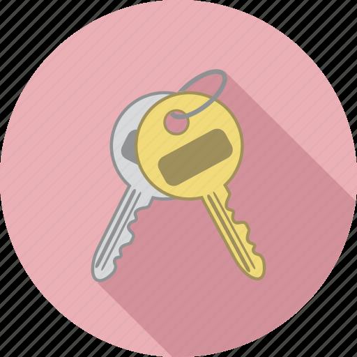 house keys, key chain, keys, lock box keys icon