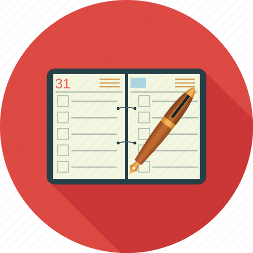 balance book, journal, ledger, planner icon