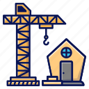 construction, house, build, crane, home