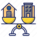 real estate, house, building, balance