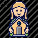 dollhouse, girl, house, home