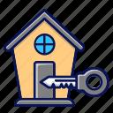 real estate, buy house, key, house