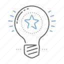 best, bulb, creative, idea, lamp icon