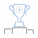 achievement, best, results, reward, trophy icon