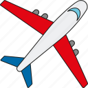 air travel, airplane, holidays, jet, tourism, travel, vacation icon