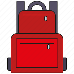 backpack, camping, holidays, luggage, tourism, travel, vacation icon