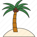 holidays, island, palm tree, tourism, travel, tropical, vacation icon
