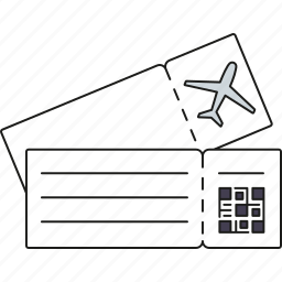 air travel, boarding pass, holidays, tickets, tourism, travel, vacation icon