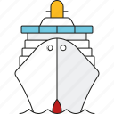 cruise, cruise ship, holidays, ocean liner, tourism, travel, vacation icon