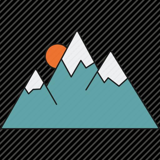 alpine, holidays, mountain range, mountains, tourism, travel, vacation icon