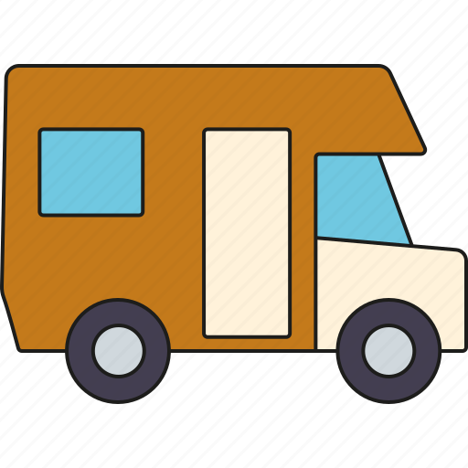 camper van, camping, holidays, motorhome, tourism, travel, vacation icon