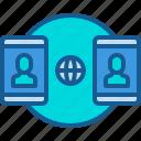 global, transaction, online, mobile, transfer icon