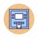 atm, automatic teller machine, bank, bank in, bank transfer, deposit, withdrawal icon