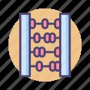 abacus, calculation, calculator, finance icon