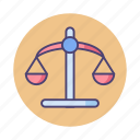 balance, fair, justice, law, legal, weigh, weight icon