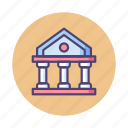 bank, banking, building, government, historical, institute, institution icon