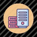 big data, database, hosting, server icon