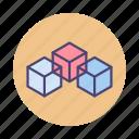 block, blockchain, blocks icon