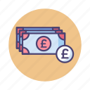 banknotes, british pound, cash, gbp, payment, pound icon