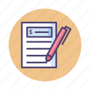 accounting, bill, budget, budgeting, invoice icon