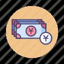 banknotes, cash, chinese yuan, payment, renminbi, rmb, yuan icon