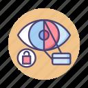 biometric, biometric scanner, cyber, cyber identity, identity, retina scan, retina scanner icon