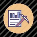 analysis, data, data mining, mining, research icon