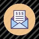 bill, invoice, money transfer, receipt, tax icon