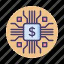finance, finance technology, financial, financial technology, fintech, technology icon