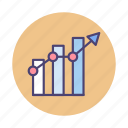 analysis, chart, diagram, graph, research, trend icon