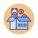 bitcoin, crowdfunding, cryptocurrency, ico, initial coin offering icon