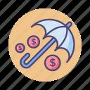 coverage, insurance, umbrella icon