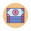 banknotes, cash, dollar bills, money, payment icon