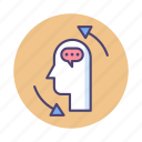 brainstorming, planning, thinking, thoughts icon