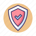 secure, secured, shield icon
