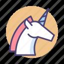magic, magical, unicorn, unique icon