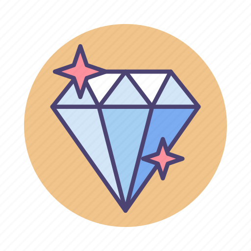 diamond, gem, gemstone, high quality, premium, valuable, value icon