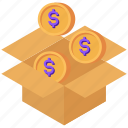 charity, collect, crowdfunding, dollar, donation icon