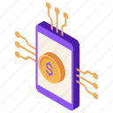 digital, mobile, neobank, payment icon