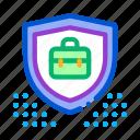 bitcoin, data, electronic, financial, fintech, outlie, protection icon