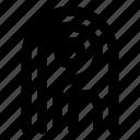 biometric, finger, fingerprint, protection, security icon