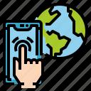 connection, globe, online, user, world