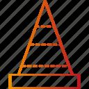 cone, construction, emergency, under icon