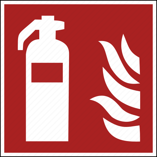 extension, extinguisher, fire, flame, flames, iso, safety icon