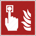 emergency, extension, fire, flames, iso, safe, security icon