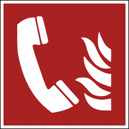 alert, call, danger, dangerous, emergency, fire, telephone icon