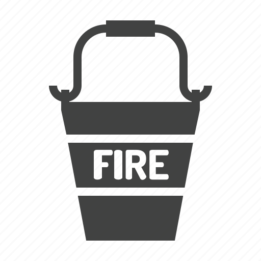 bucket, fighting, fire icon